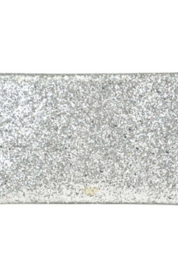 Anya Hindmarch Valorie Silver Glitter Clutch 2