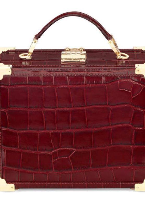 Aspinal of London Bordeaux trunk bag 4 Preview Images