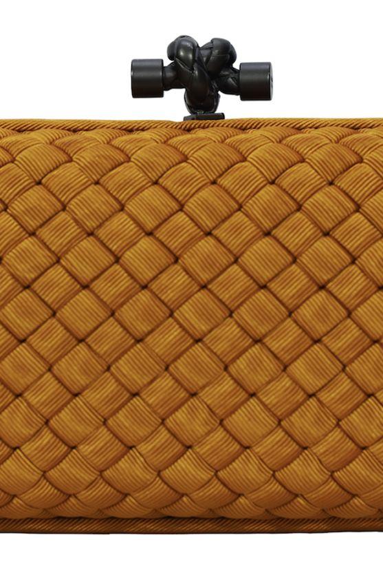 Bottega Veneta Faille Silk Knot Clutch Preview Images