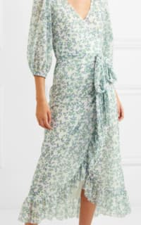 Ganni Tilden floral-print mesh wrap  4 Preview Images