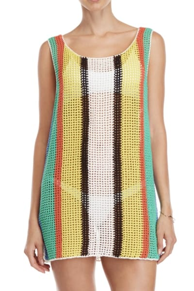 Diane Von Furstenberg Open knit tank dress swim cover up 3