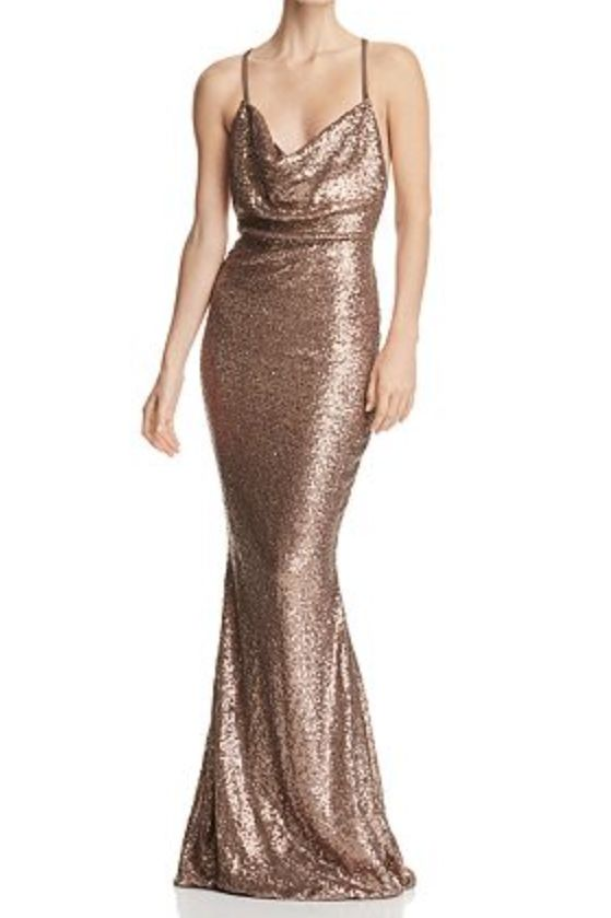 Nookie Gold sequin gown
