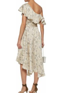 Zimmermann Asymmetric ruffled floral-print silk wrap midi dress 2 Preview Images