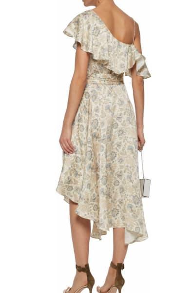 Zimmermann Asymmetric ruffled floral-print silk wrap midi dress 2