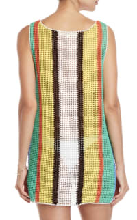 Diane Von Furstenberg Open knit tank dress swim cover up 2 Preview Images