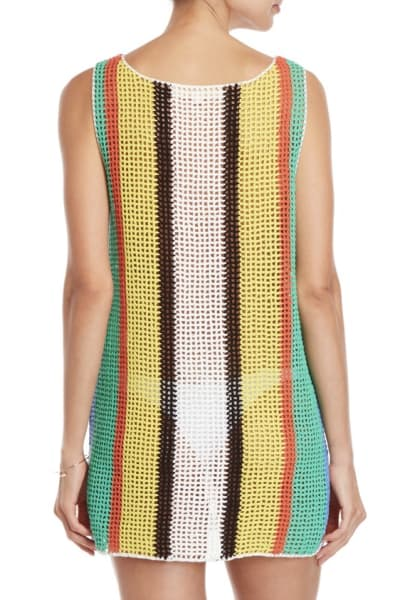Diane Von Furstenberg Open knit tank dress swim cover up 2