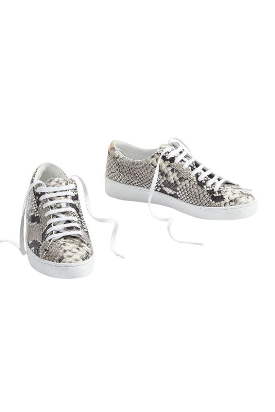 Jigsaw Amour Lace Up Snakeskin Trainer Preview Images