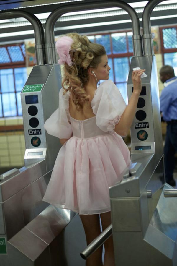 Selkie Pink Puff Mini Dress 6