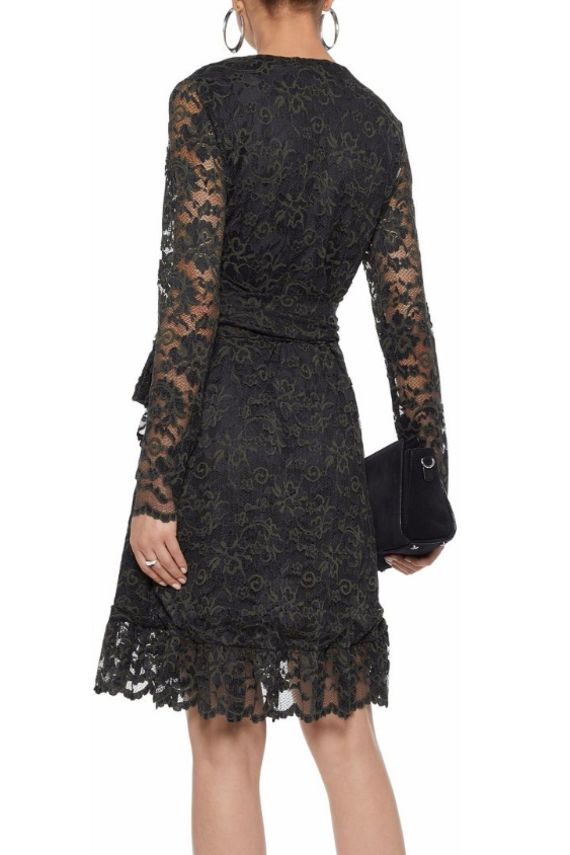 Ganni Flynn lace wrap dress 3 Preview Images