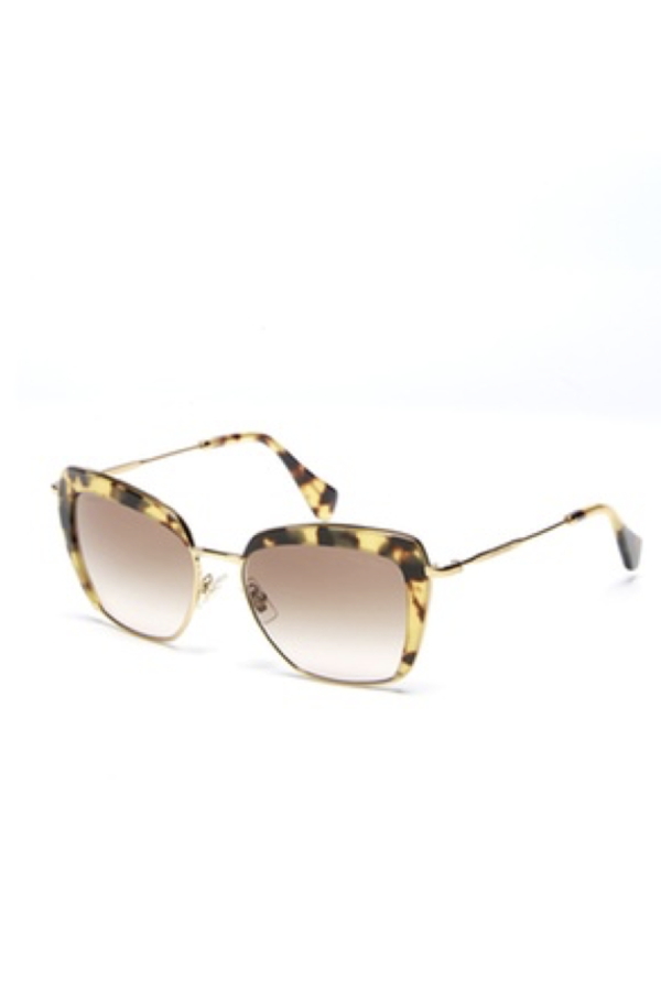 Miu Miu Mock Half-Rim 53MM Square Sunglasses