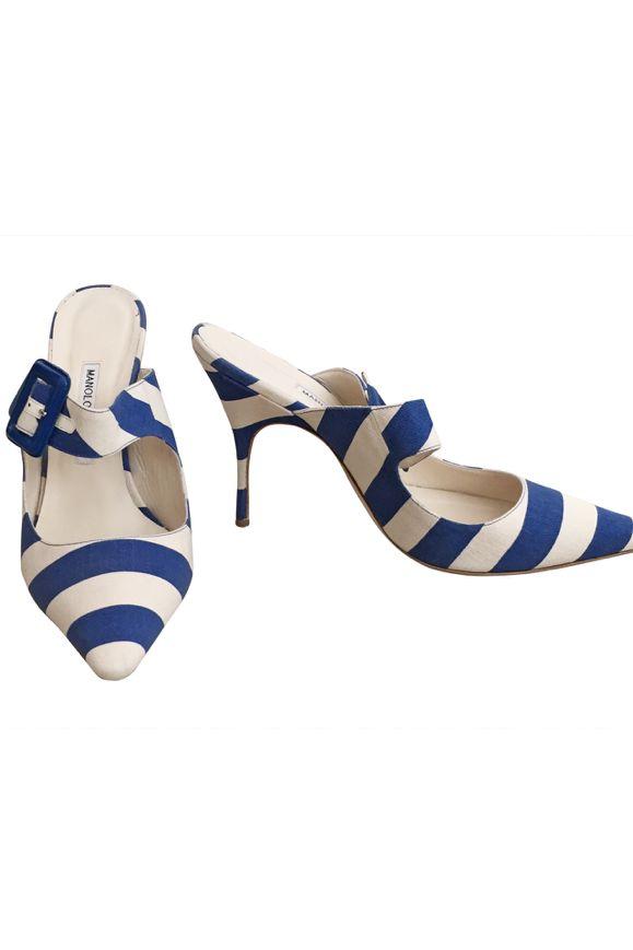 Manolo Blahnik Stripe Heel Preview Images