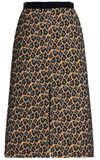 Perseverance  Leopard Print Midi Skirt Preview Images