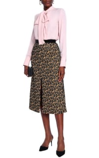 Perseverance  Leopard Print Midi Skirt 2 Preview Images