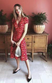 Realisation Par Red floral midi dress 2 Preview Images