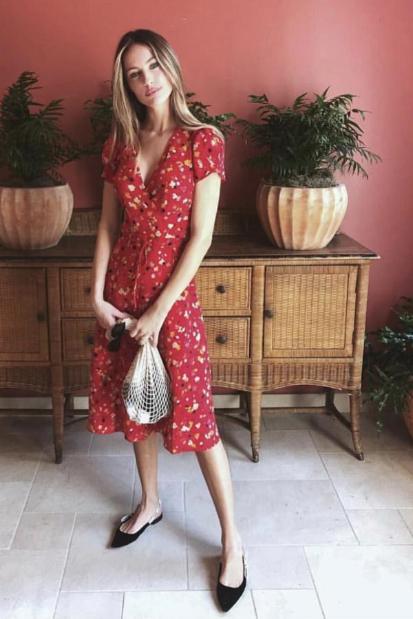 Realisation Par Red floral midi dress 2