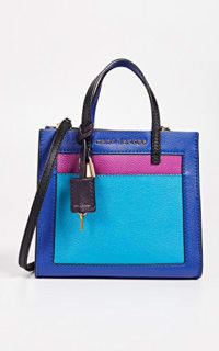 Marc Jacobs The Mini Grind Leather Bag in Academy Blue 3 Preview Images