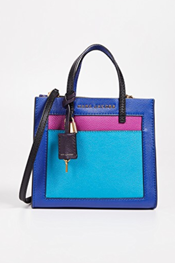 Marc Jacobs The Mini Grind Leather Bag in Academy Blue 3