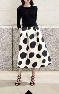 LK Bennett Monique Full Spotted Skirt 3 Preview Images