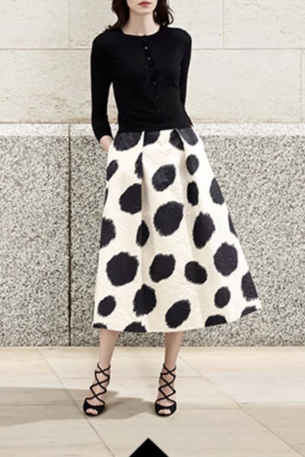 LK Bennett Monique Full Spotted Skirt 3