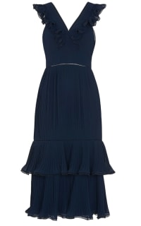 Whistles Florella Pleated Dress Preview Images