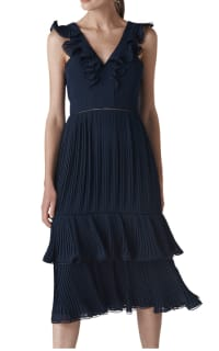 Whistles Florella Pleated Dress 3 Preview Images
