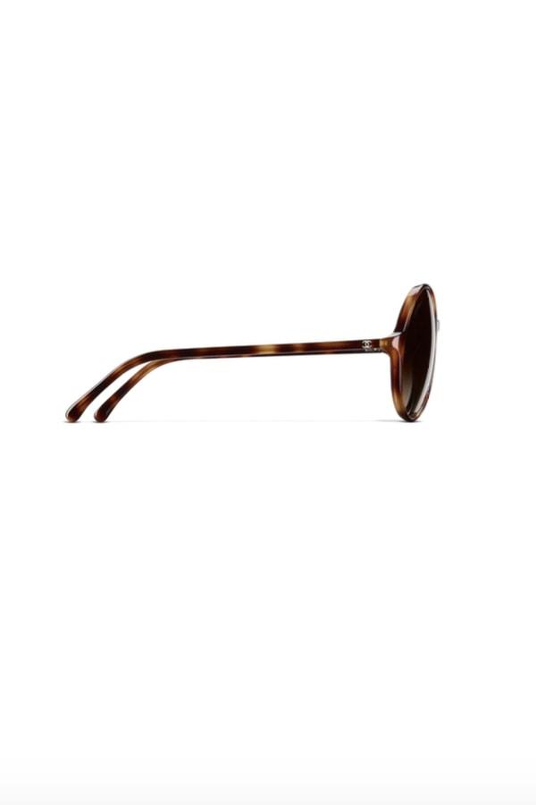 Image 2 of Chanel round tortoise sunglasses