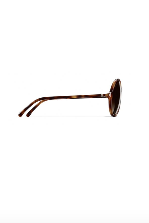 Chanel Round Tortoise Sunglasses 2