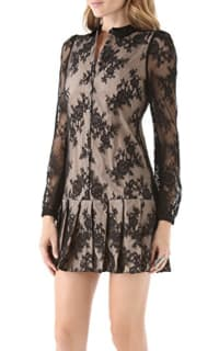 Alexander McQueen Drop Waist Pleat Dress 2 Preview Images