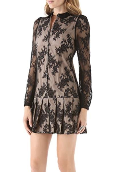 Alexander McQueen Drop Waist Pleat Dress 2