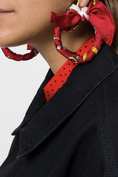 Balenciaga Ribbon Earring 2