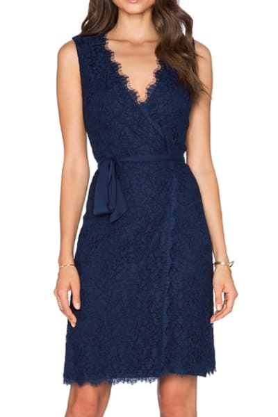 Diane Von Furstenberg Julianna Two Lace Wrap Dress