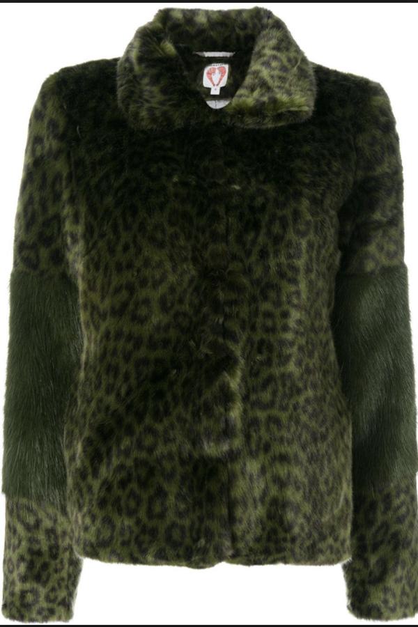 Shrimps Alpin leopard faux fur coat 5
