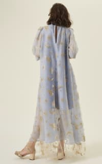 Manoush Blue gingham 'Vichy Star' Dress 6 Preview Images