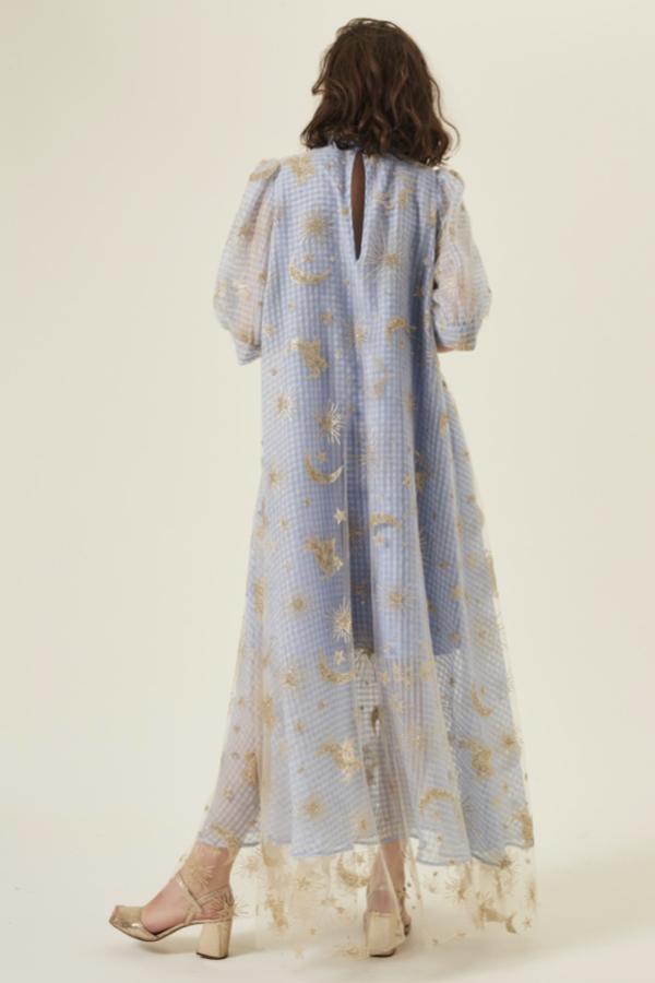 Manoush Blue gingham 'Vichy Star' Dress 6