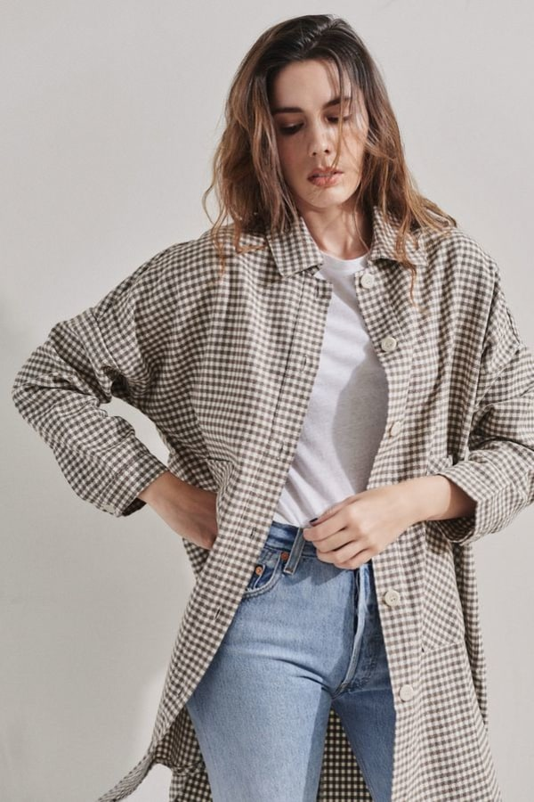 Image 4 of Rita Row check cotton shirt