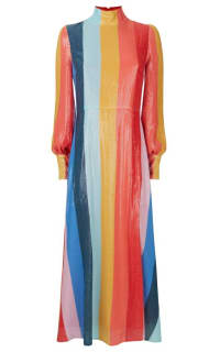 Olivia Rubin Maddie rainbow midi dress Preview Images