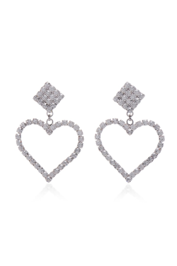 Image 1 of Alessandra Rich crystal clip earrings
