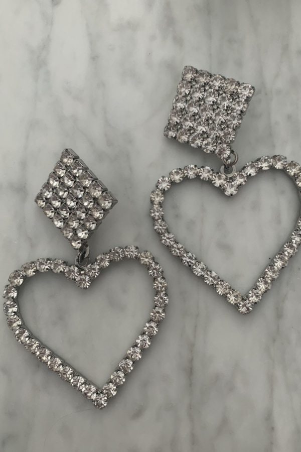 Image 3 of Alessandra Rich crystal clip earrings