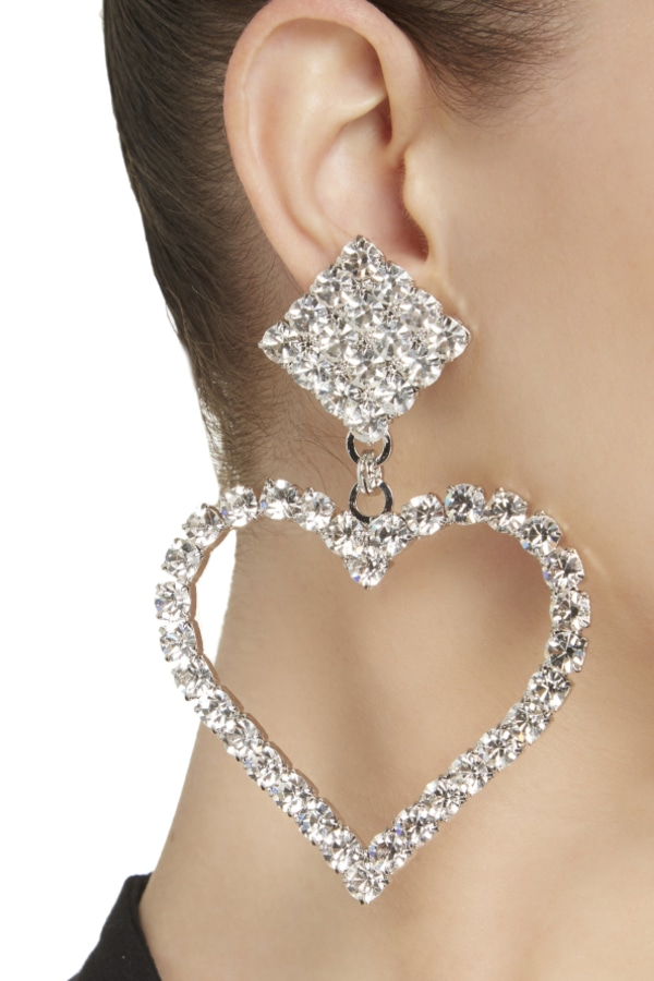 Image 2 of Alessandra Rich crystal clip earrings