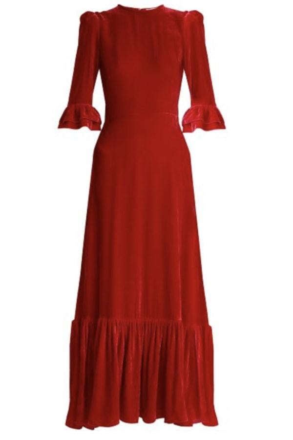 Image 1 of The Vampire's Wife red velvet maxi dress