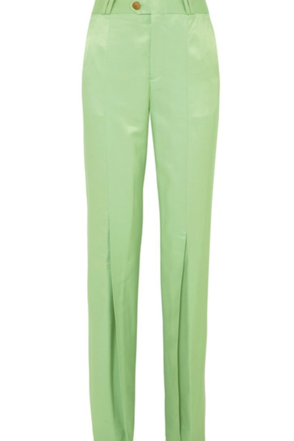 Image 1 of Acne Studios satin pleated flare trousers