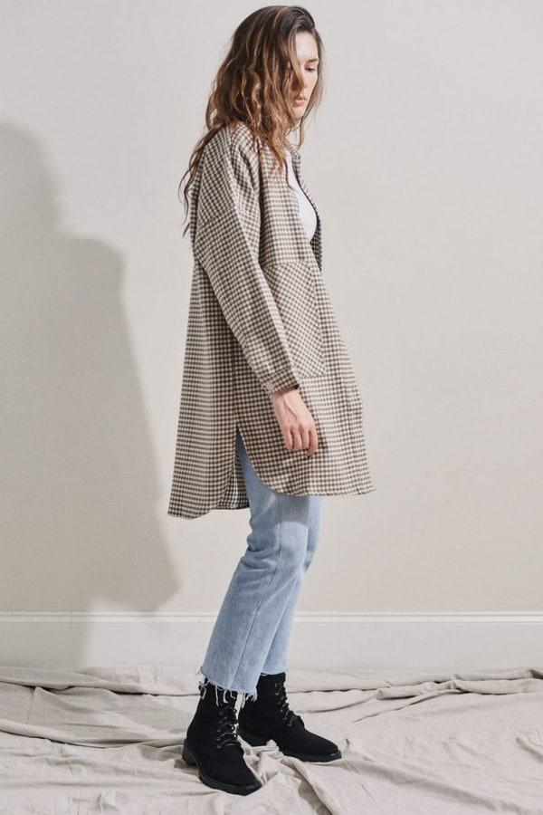 Image 3 of Rita Row check cotton shirt