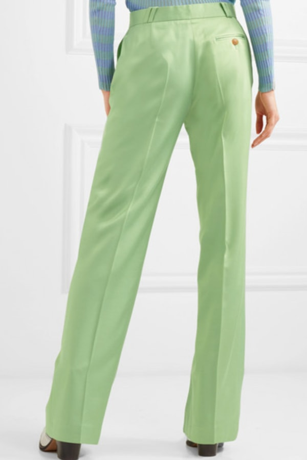 Image 3 of Acne Studios satin pleated flare trousers