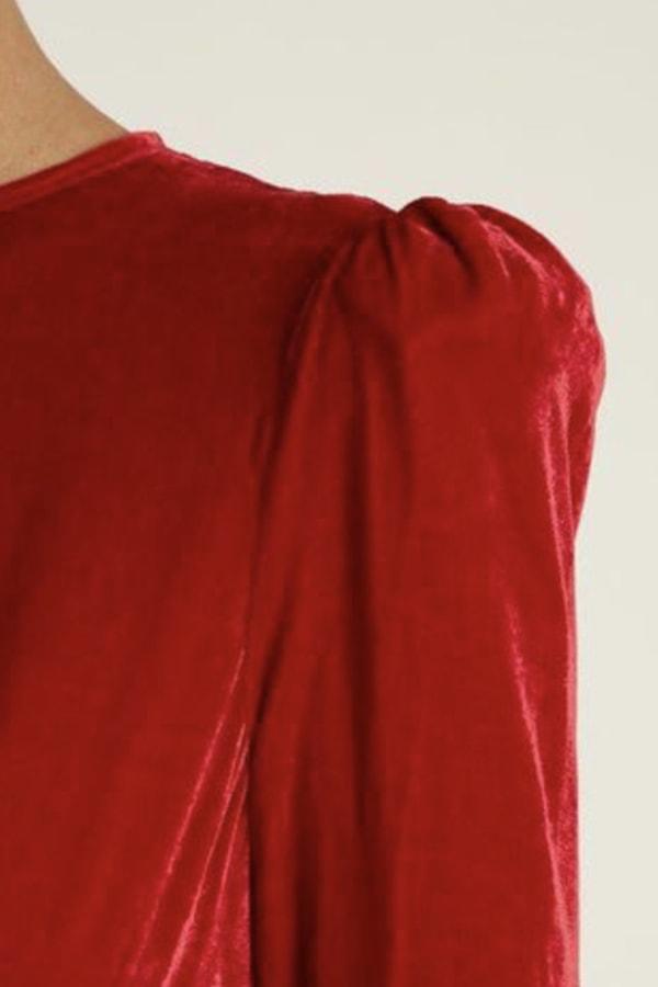 Image 3 of The Vampire's Wife red velvet maxi dress