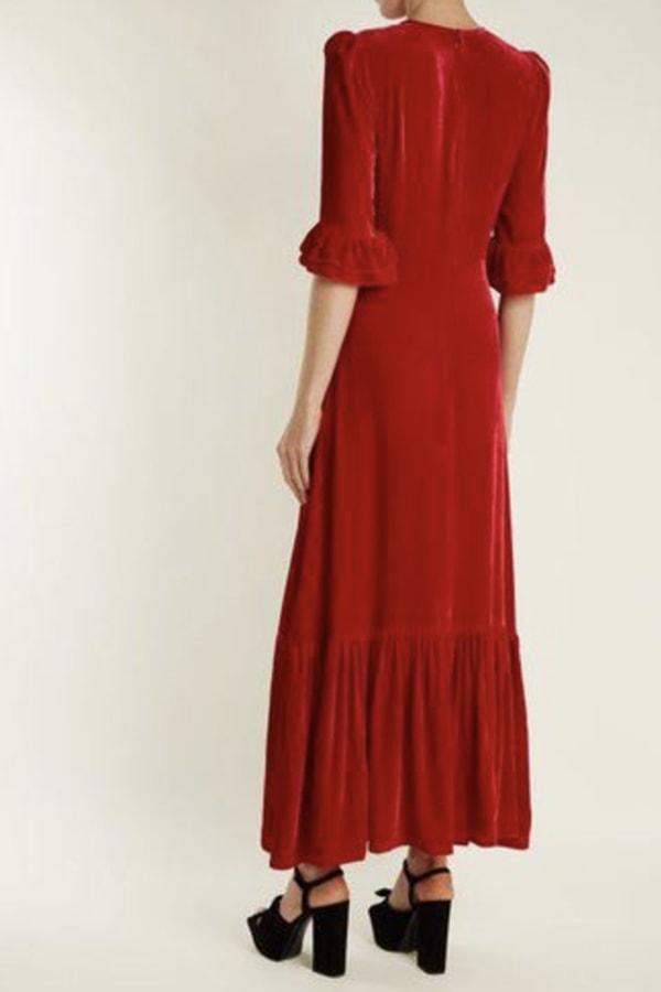 Image 2 of The Vampire's Wife red velvet maxi dress