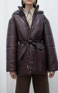 Nanushka Lennox puffer jacket 5 Preview Images