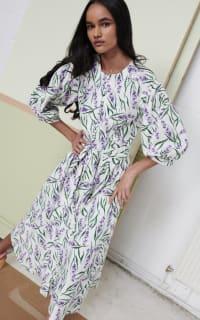 Olivia Rubin Annie Lavender Print Dress 2 Preview Images