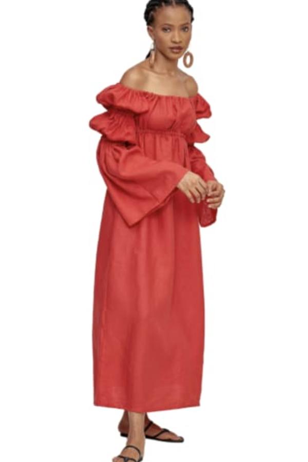 Míe Red Phi Phi linen dress 4
