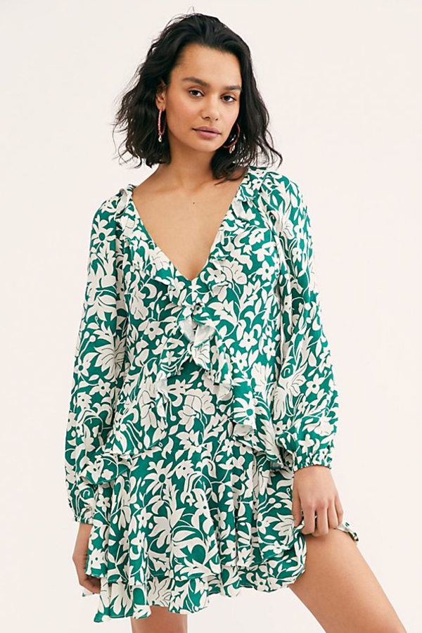 Free People Rebbecca ruffle dress