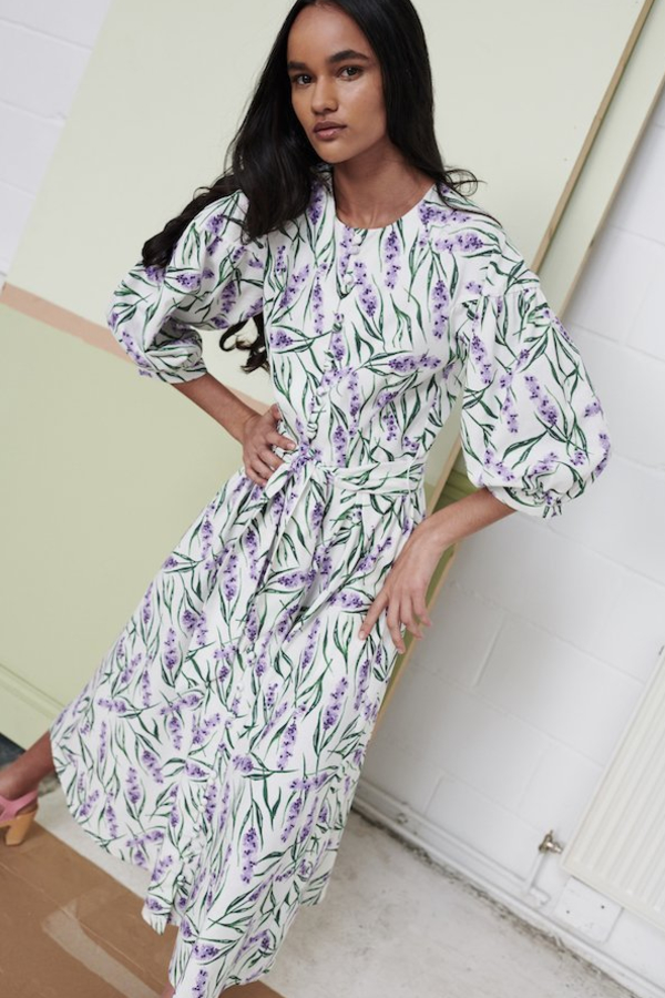 Olivia Rubin Annie Lavender Print Dress 2